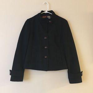 Banana Republic Black Wool Pea Coat